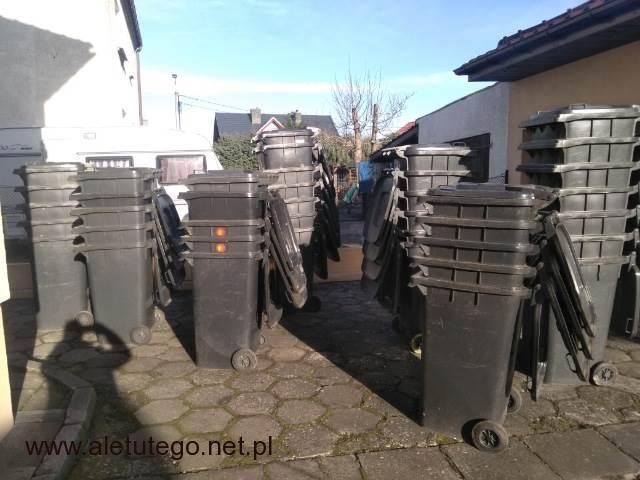 Używane pojemniki na śmieci